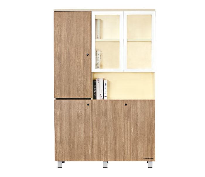 美耐办公家具 办公柜 高文件柜子 资料柜 木质板式可带锁