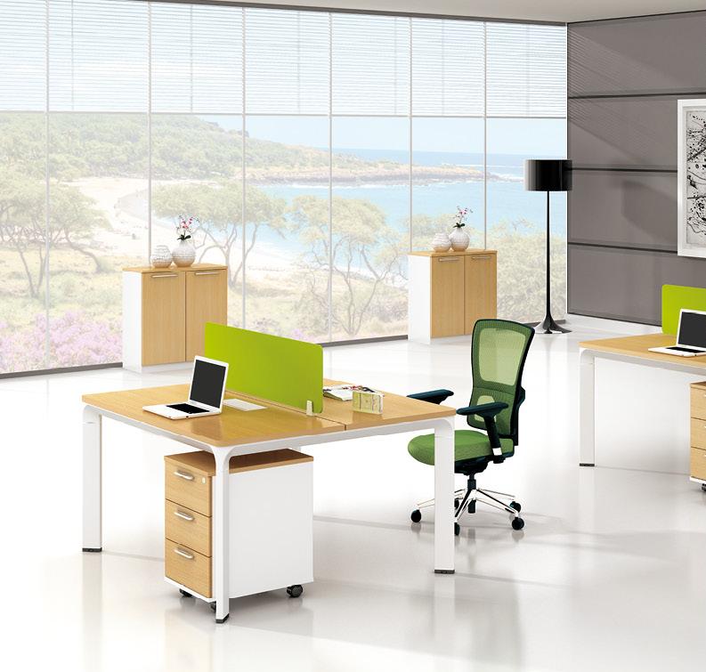 美耐家具 办公家具钢架板式屏风组合