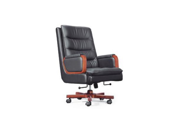 美耐豪华老板椅真皮可躺大班椅实木转椅办公椅头层牛皮老板椅