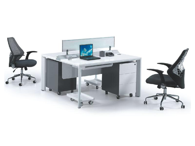 职员卡座时尚简约屏风隔断2人办公桌 两人组合台办公家具