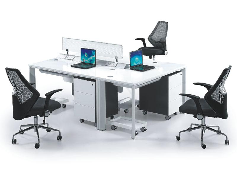 三人组合台 员工卡位 职员台组合 办公屏风组合 职员桌组合