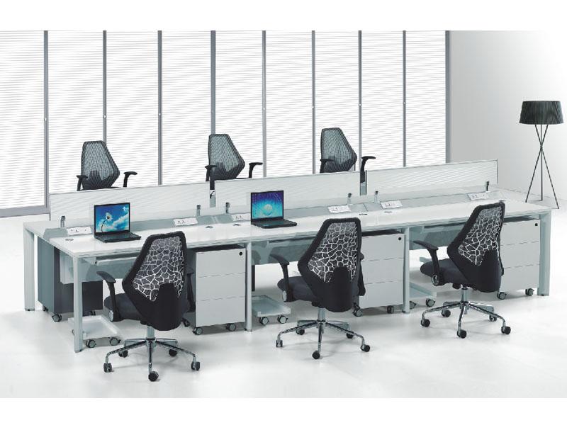 六人位公桌 简约职员台屏风卡位时尚组合屏风员工桌