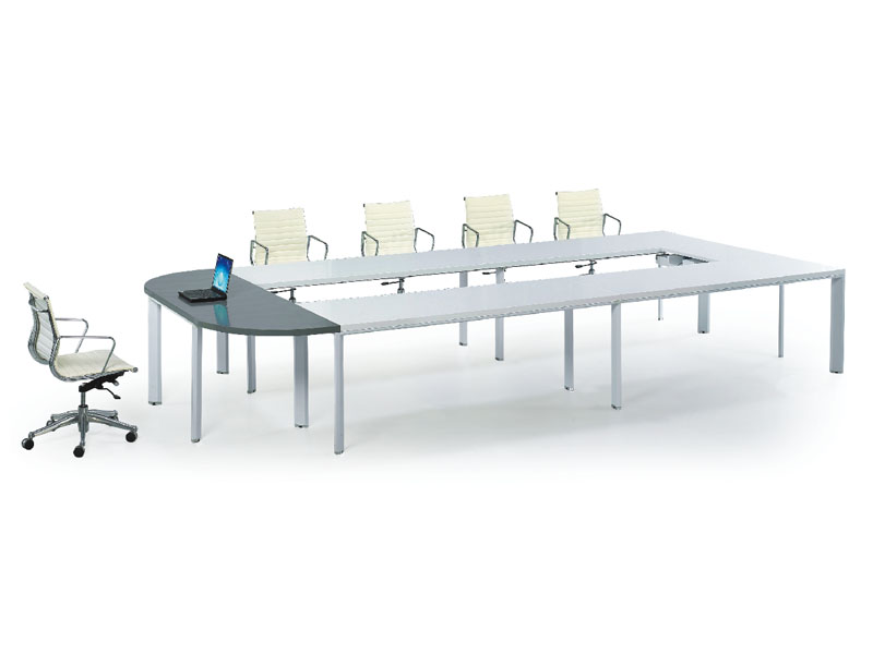 员工培训桌 长条形会议桌 简约现代钢架会议桌 洽谈桌