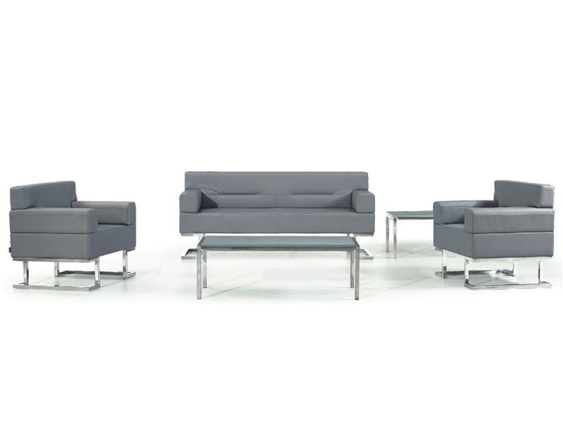 真皮沙发 皮艺沙发 现代简约时尚办公会客沙发