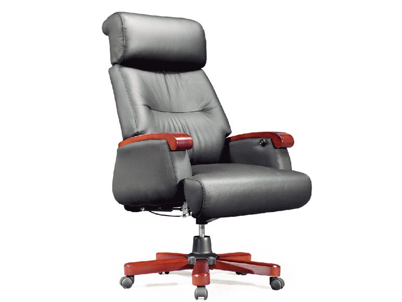 老板椅 真皮大班椅 实木转椅 可躺电脑椅 时尚办公椅