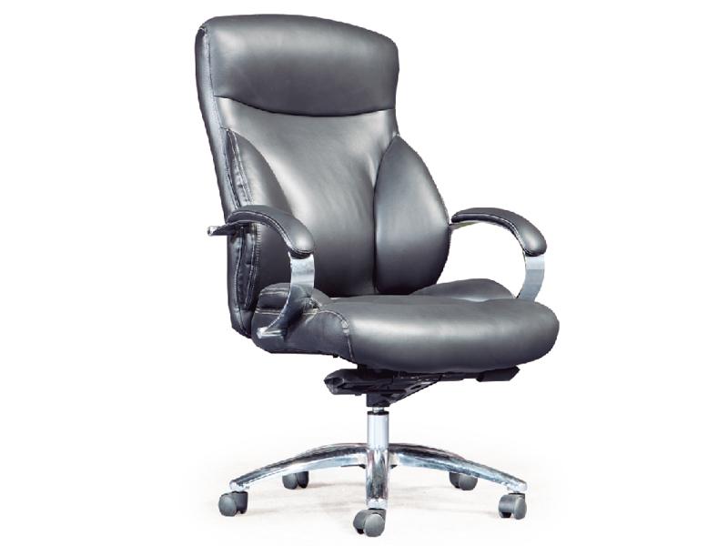 办公家具椅大班椅转椅黑色特价脚会议钢制牛皮