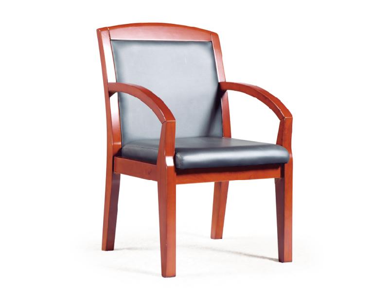 实木皮艺会议椅 木质办公椅 麻将椅棋牌室椅子