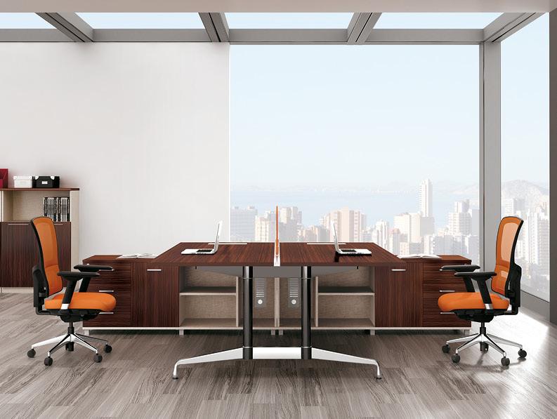 美耐家具 钢架组合办公桌 职员桌屏风工作位员工桌卡座办公家具电脑桌