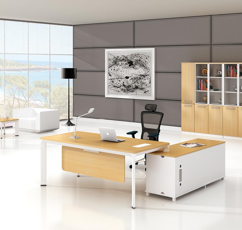 美耐家具办公家具 现代办公桌 老板桌 大班台 主管桌简约 时尚经理桌