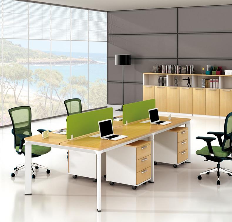 美耐家具办公桌 四人办公桌椅 组合屏风工作位 厂家直销