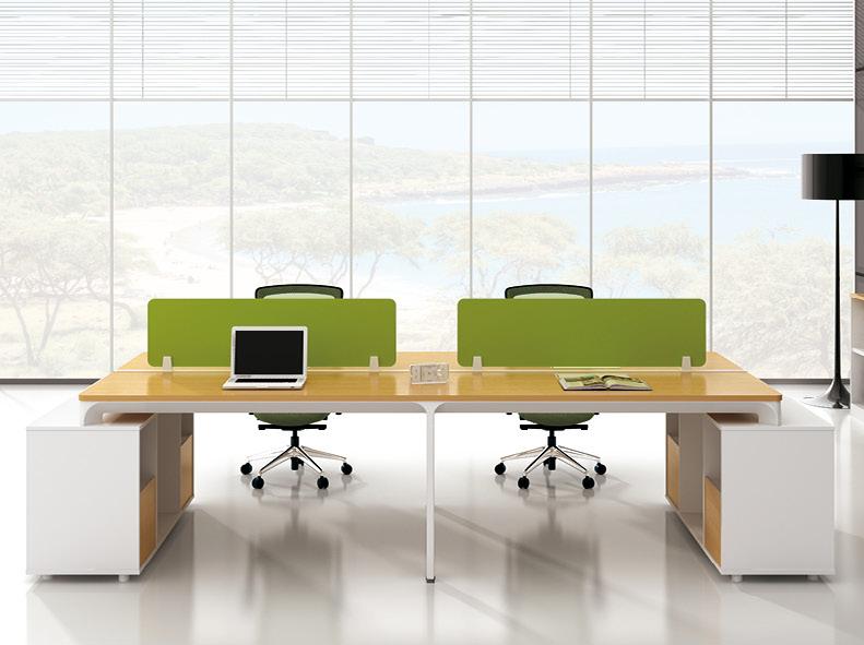 美耐家具 办公家具办公桌 四人办公桌椅 组合屏风工作位 厂家直销