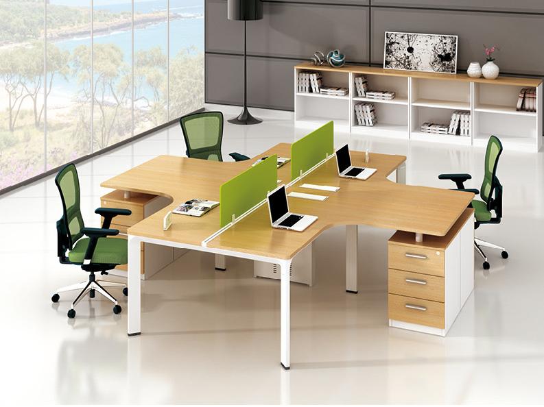 美耐家具 办公家具办公桌 组合屏风办公桌4人位电脑桌职员桌办公桌椅