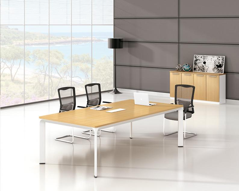 美耐家具 简约现代办公家具会议桌 员工培训桌 长条桌接待洽谈桌