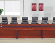 贴实木木皮红胡桃油漆洽谈桌会议桌 油漆桌会客桌 开会桌