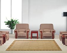 美耐办公家具高档布艺皮艺实木办公接待沙发组商务会客沙发