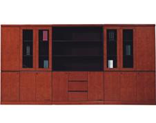 美耐家具实木办公书柜资料柜高档豪华组合文件柜