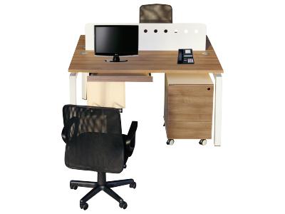 美耐两人位组合桌时尚主管桌办公电脑桌操作台