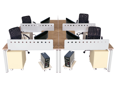 美耐 办公桌 时尚简约 员工组合桌四人组合台 屏风隔断
