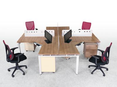 办公家具屏风桌办公电脑卡座多人组合 十字四人组合台