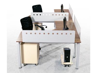 两人组合办公台 屏风组合台职员办公桌 双人组合台