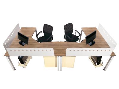 两人位转角办公桌 屏风桌 桌柜组合 职员台隔断