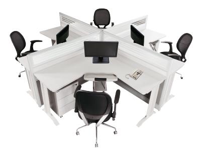 美耐家具组合屏风办公桌卡位员工 隔断四人组合桌
