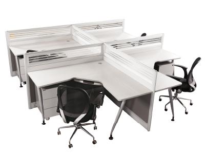 四人位屏风组合 办电脑公桌 高隔断 职员工作卡位