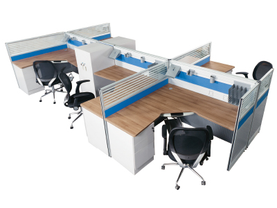 板式六人位办公桌 职员桌 员工台组合高档办公屏风台