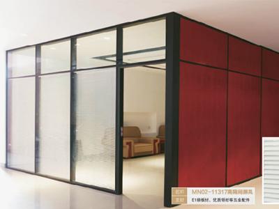 办公室高隔断屏风 隔墙玻璃 铝合金高隔断