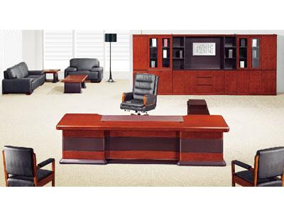 美耐家具老板桌 实木大班桌大班台老板台办公桌主管桌