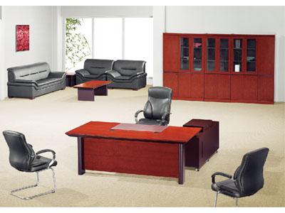 贴木皮油漆老板桌实木大班桌总裁桌主管桌
