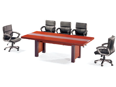 实木长方形洽谈桌木质会议桌开会桌培训桌