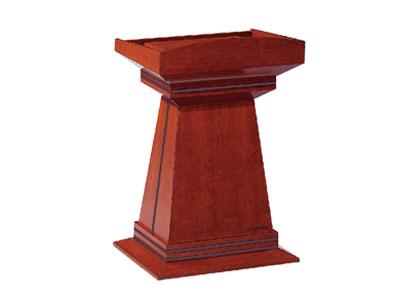 美耐家具贴实木皮主席台演讲台演讲桌迎宾台桌