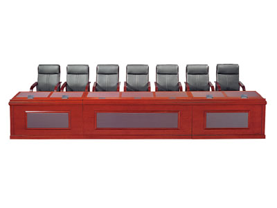 油漆主席台 会议桌 实木演讲台 发言台时尚简约现代