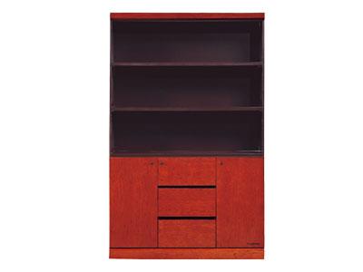 文件高柜 实木柜 组合文件柜  贴木皮柜 三门装饰柜