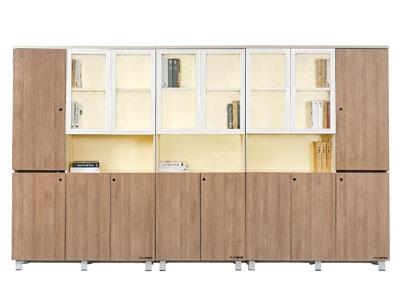 美耐办公家具 高档板式文件书柜 资料柜 落地组合档案柜