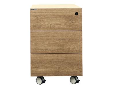 【美耐办公家具映橡系列】——三抽木抽小柜MN04-11312