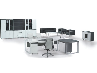 老板办公桌 经理办公主管 总裁台 电脑桌黑色时尚桌 大班台 总裁台