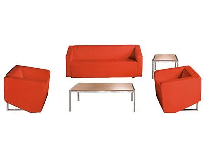 办公室沙发 商务接待沙发 简约现代 单双三人位茶几组合