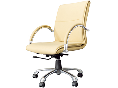 电脑椅家用 职员椅 升降转椅 皮制中班椅