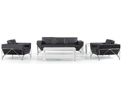 现代钢架办公沙发组合 休闲时尚商务接待室三人单人位组合沙发