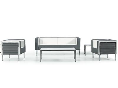 简约时尚黑白真皮沙发 客厅组合沙发