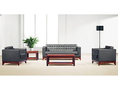 办公沙发简约时尚办公室接待组合三人/单双人贵宾室沙发