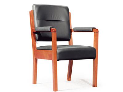 实木办公椅 木质会议椅 高档真皮办公椅子 班前椅