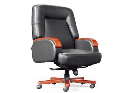电脑椅 老板椅 实木办公椅 真皮转椅 豪华中班椅