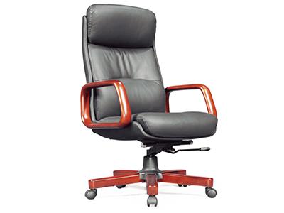 电脑椅 老板椅 实木办公椅 真皮转椅 豪华中大班椅