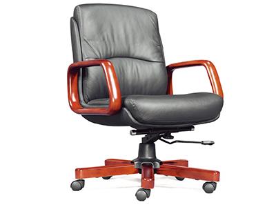 老板椅 实木办公椅 真皮转椅 豪华中班椅 电脑椅