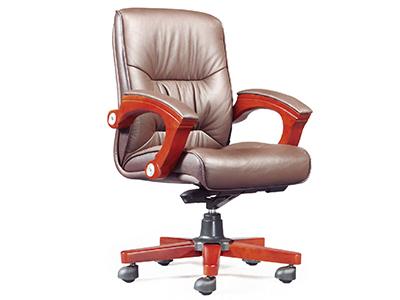 办公牛皮老板椅真皮中班椅转椅办公椅中班椅电脑椅子