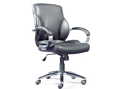 办公家具老板椅人体工学椅黑色白色进口牛皮钢制脚