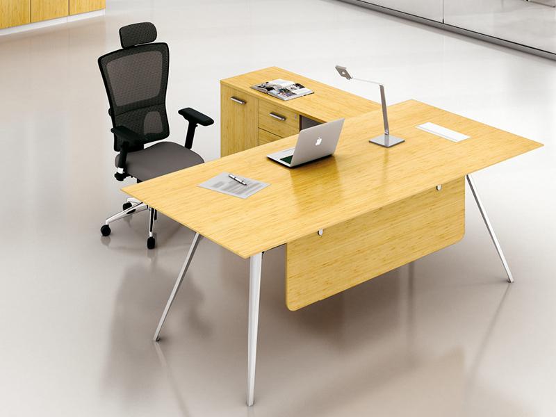 美耐家具主管台钢木办公桌组合创意简约现代南京厂家
